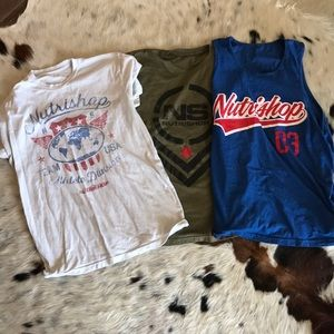 Other - 3 Nutrishop Austin Teeshirts
